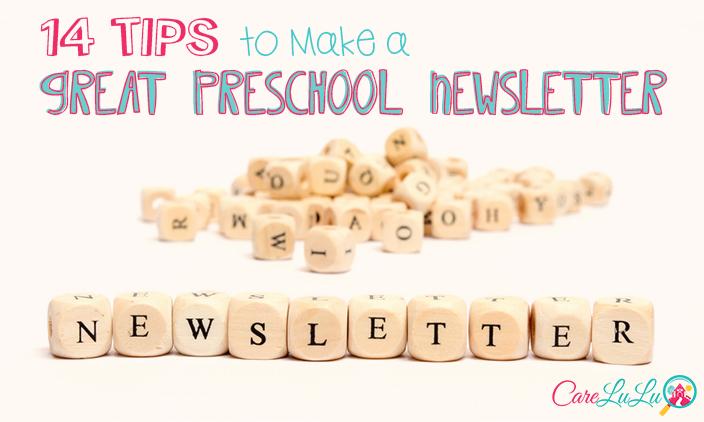 14 Tips to Make a Great Preschool Newsletter - CareLuLu